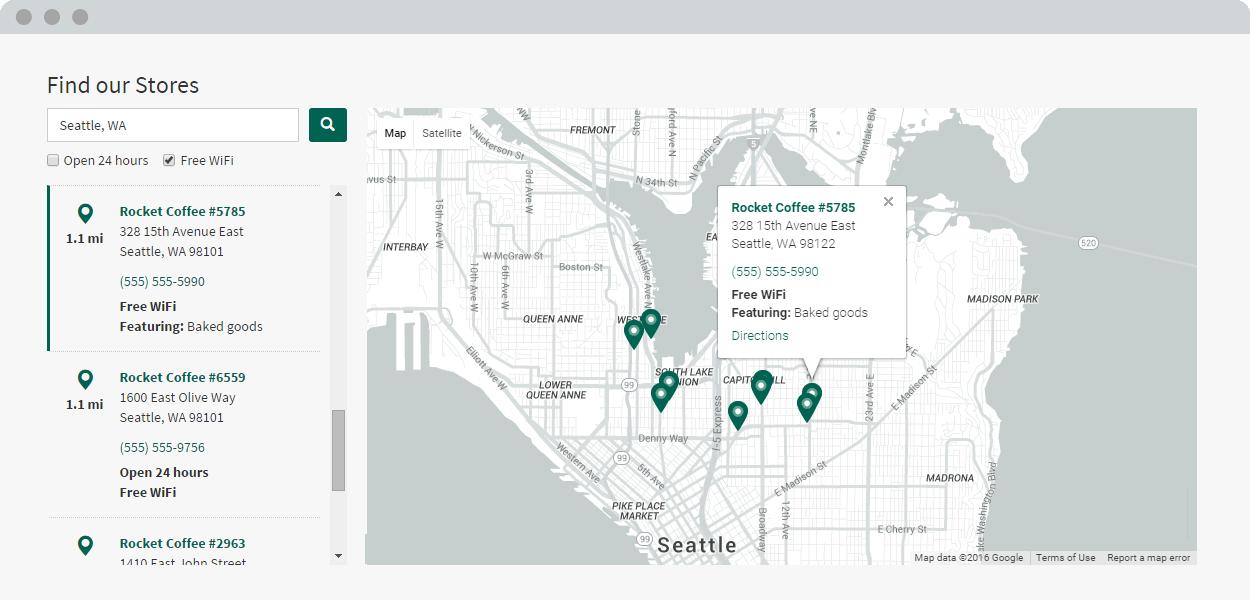 Store Locator Screenshot